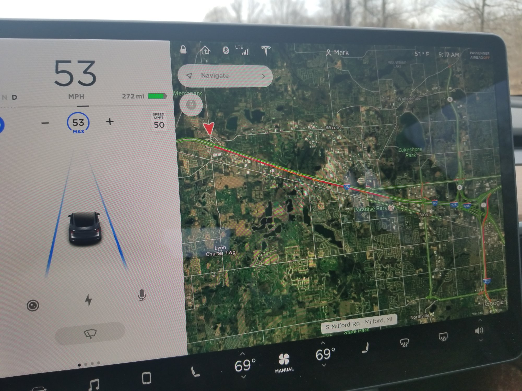 Traffic Flow Data Different In Satellite View Vs Map View Tesla