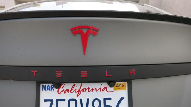 front T logo in red | Tesla Motors Club