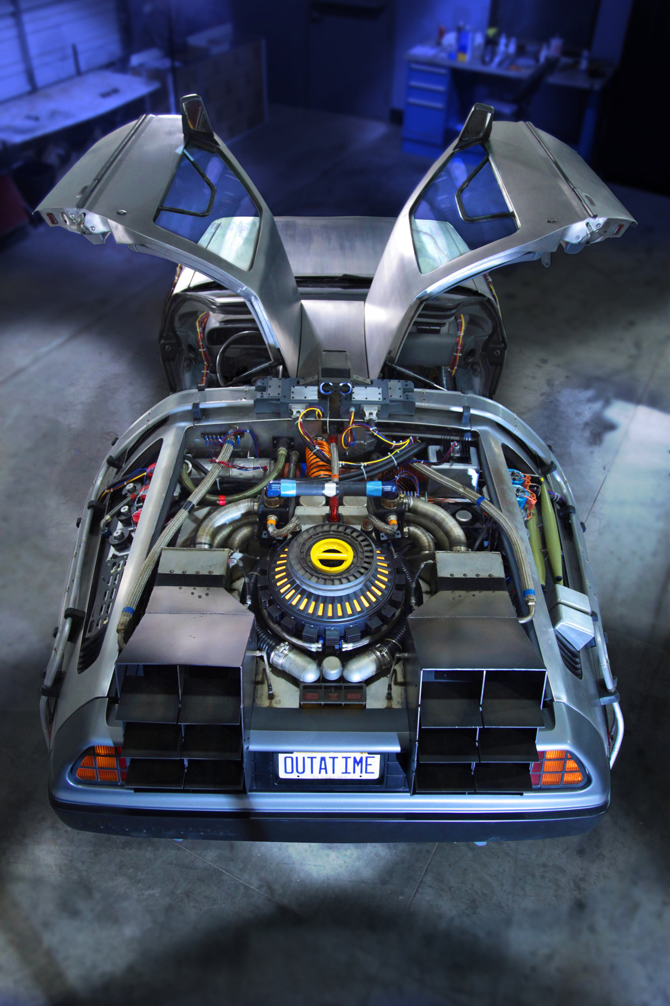 Back to the Future DeLorean Comes to the Petersen Automotive Museum - OVERHEAD.jpg
