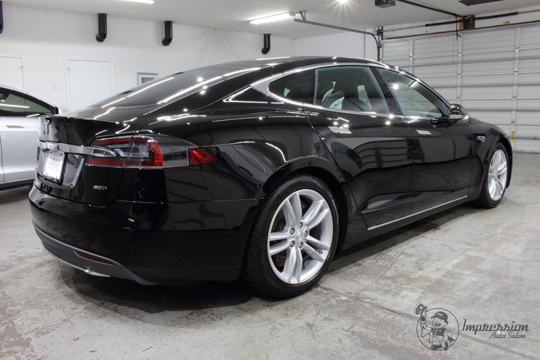 Black Tesla Model S 85D Rear Side After CQuartz Finest Coating.jpg