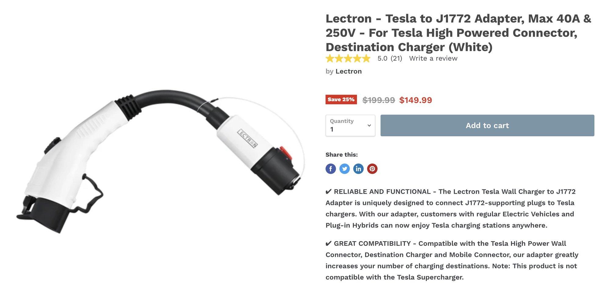 Lectron J1772 adapter.jpg