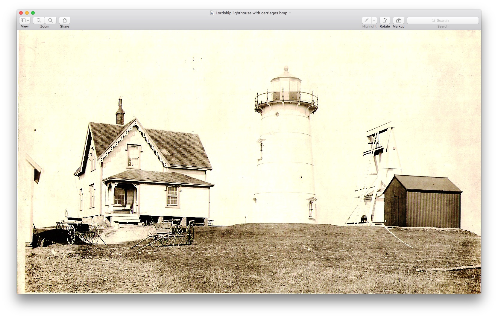 Lordship Lighthouse with Carriages 1876.jpg