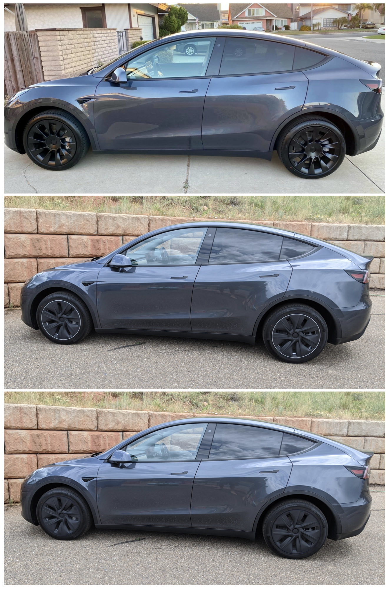 Model Y - 19 Gemini - Inductions vs Painted Covers vs Painted Rims.png
