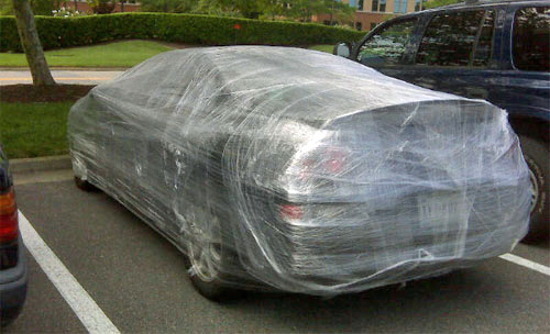 parking-lot-car-prank-funny-saran-wrapped.jpg