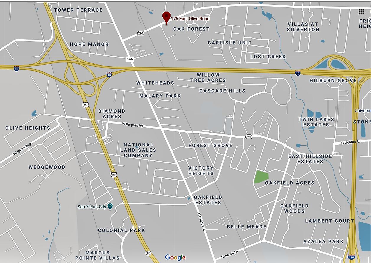 Pensacola Service Center vicinity map.png