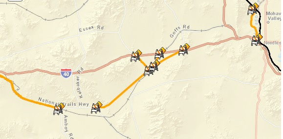 Route 66 road closures California.jpg
