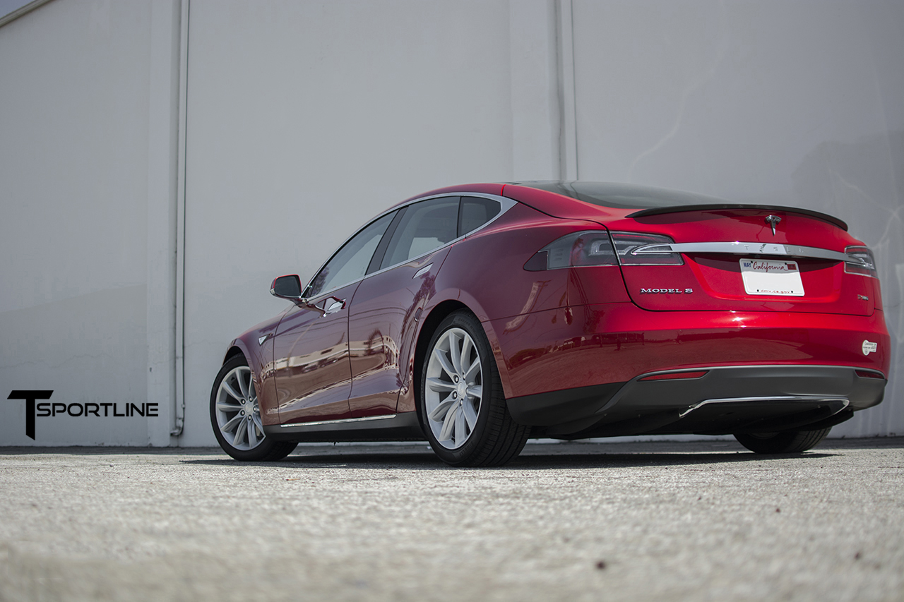 Silver TST on Red Tesla S 1.jpg