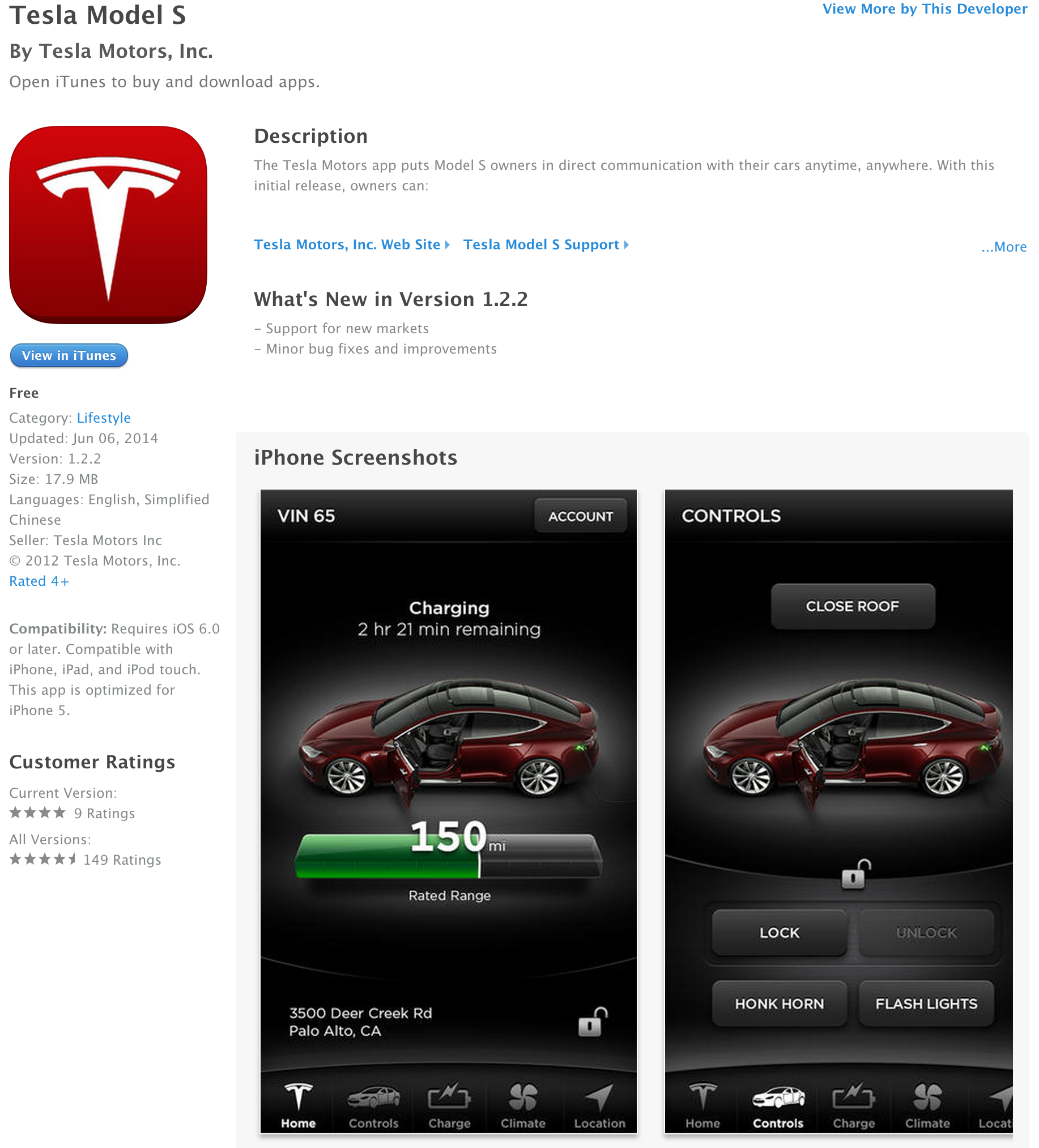 Tesla Motors in iTunes Store.png