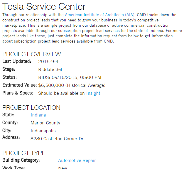 tesla service center indianapolis cmd reference.png