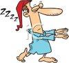 0511-1008-0622-5911_Cartoon_of_a_Man_Wearing_a_Nightcap_Sleepwalking_clipart_image.jpg