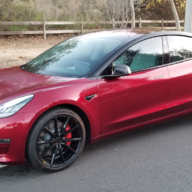 Two tone Burgundy/Black Autoflex paint on Model3 | Tesla Motors Club
