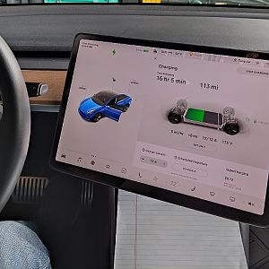 Tesla Model 3 Center Screen Tiled Left
