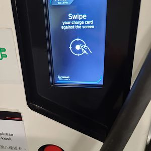 Non Tesla Charging Station Screen