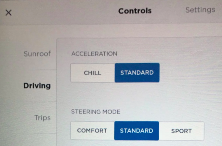 Tesla chill mode